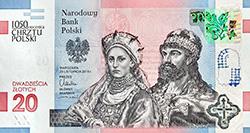 20 zł 2016 1050. rocznica Chrztu Polski