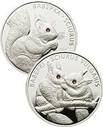 Białoruś - 2x 20 rubli 2010 - Wiewiórka i Wiewiórki - z kryształami Swarovskiego