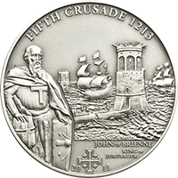 Cook Islands - 2011, 5 dolarów - Historia Krucjat - Piąta Krucjata - King of Jerusalem