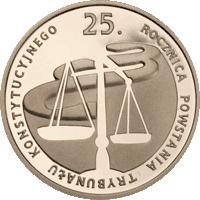 100 z� 2010 25. rocznica powstania Trybuna�u Konstytucyjnego - monety