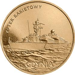 """2 z� 2013 Kuter rakietowy """"Gdynia"""" - monety"""