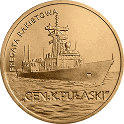 2 z� 2013 Fregata rakietowa - Gen. K. Pu�aski - monety