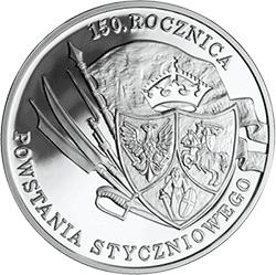 10 z� 2013 150. rocznica Powstania Styczniowego - monety