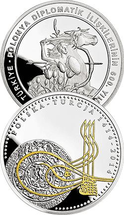 20 z� 2014 / 50 TRY 2014 600 lat stosunk�w dyplomatycznych polsko-tureckich - monety