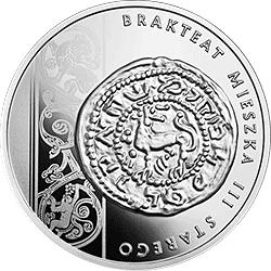 10 zł 2014  Historia Monety Polskiej - Brakteat Mieszka III - monety