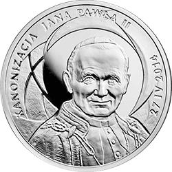 10 z� 2014 Kanonizacja Jana Paw�a II - 27 IV 2014 - monety