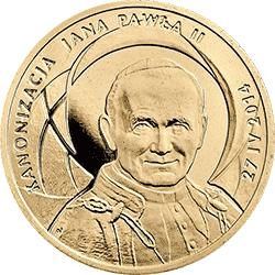 2 zł 2014 Kanonizacja Jana Pawła II - 27 IV 2014 - monety