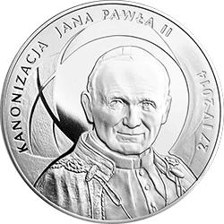 500 z� 2014 Kanonizacja Jana Paw�a II - 27 IV 2014 - monety