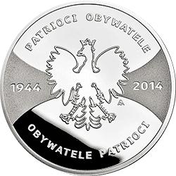 20 zł 2014 Patrioci 1944 Obywatele 2014 - monety