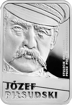10 z� 2015 J�zef Pi�sudski - Stulecie odzyskania przez Polsk� niepodleg�o�ci - monety
