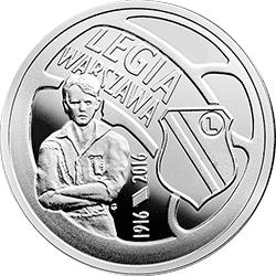 5 z� 2016 Polskie Kluby Pi�karskie - Legia Warszawa - monety