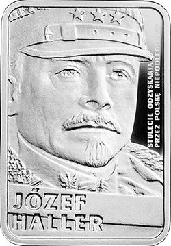 10 zł 2016 Stulecie odzyskania przez Polskę niepodległości - Józef Haller - monety