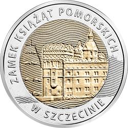 5 zł 2016 Zamek Książąt Pomorskich w Szczecinie - Odkryj Polskę - monety