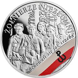 10 zł 2017 Wyklęci przez komunistów żołnierze niezłomni – Żołnierze Niezłomni - monety