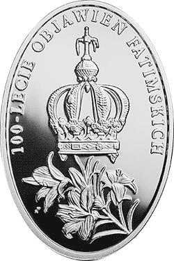 10 zł 2017 100-lecie objawień fatimskich - monety