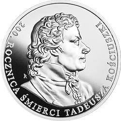 10 zł 2017 200. rocznica śmierci Tadeusza Kościuszki - monety