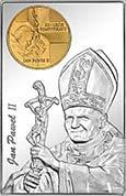 Sztabka Srebrna z wizerunkiem Jana Pawła II - monety