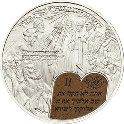 Palau - 2013, 2 dolary - Historie Biblijne - 10 Przykazań - II - monety