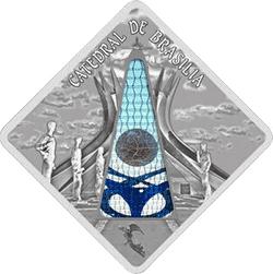Palau - 2012, 10 dolarów - Święte okna - Cathedral in Brasilia - monety