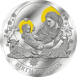 Palau - 2013, 2 dolary - Historie Biblijne - Narodziny Jezusa