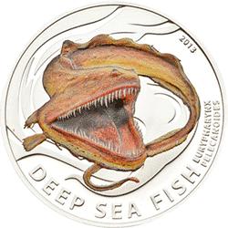 Pitcairn Islands - 2013, 2 Dollars - Ryby Głębinowe - Melanostomias Biseriatus - monety