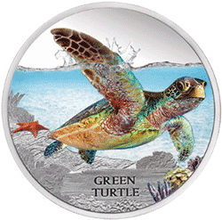 Tuvalu - 2013, 1 dolar - Wymieraj�ce gatunki - ��w zielony - monety