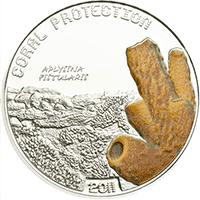 Tuvalu - 2011, 1 dolar - Chronione koralowce - Aplysina Fistularis
