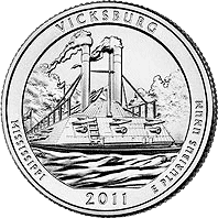 25 Cent�w 2011 - Vicksburg National Military Park - Mississippi (P)