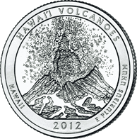 25 Cent�w 2012 - Hawai'i Volcanoes National Park - Hawaii (P)