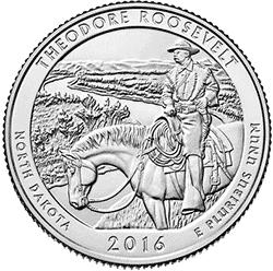 25 Centów 2016 - Theodore Roosevelt - North Dakota (D) - monety