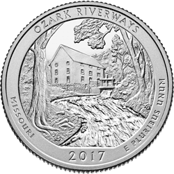25 Centów 2017 - Ozark National Scenic Riverways - Missouri (P)