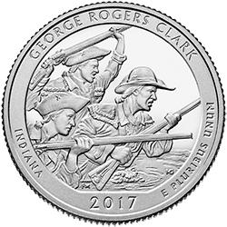 25 Centów 2017 - George Rogers Clark - Indiana (P) - monety