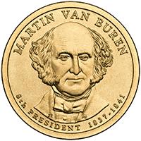 1 dolar 2008 - Martin Van Buren (P) - monety