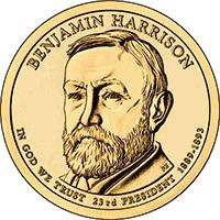 1 dolar 2012 - Benjamin Harrison (D)