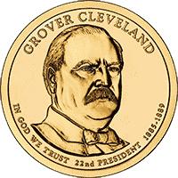 1 dolar 2012 - Grover Cleveland (D)