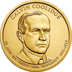 1 dolar 2014 - Calvin Coolidge (D)