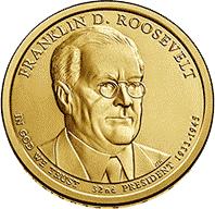 1 dolar 2014 - Franklin D. Roosevelt (D) - monety