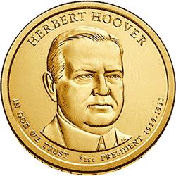 1 dolar 2014 - Herbert Hoover (D) - monety
