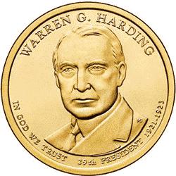 1 dolar 2014 - Warren G. Harding (P) - monety