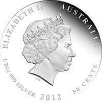 Australia - 2012, 50 cents - Dzieci Buszu II - Kookaburra