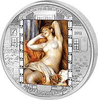 Cook Islands - 2012, 20 dolarów - Pierre-Auguste Renoir - Śpiąca kobieta - Sen - Ars Vaticana