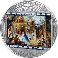 Cook Islands - 2011, 20 dolarów - Charles le Brun - Adoracja Pasterzy - Ars Vaticana - monety
