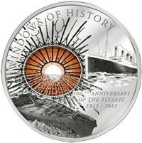 Cook Islands - 2011, 10 Dollars - Okna Historii - TITANIC - 1. moneta - monety