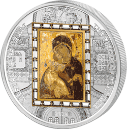 Cook Islands - 2013, 20 dolarów - Virgin of Vladimir - Ars Vaticana