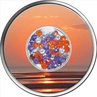 Fiji - 2012, 10 Dollars - Diamentowy Zachód Słońca - monety