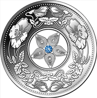 Fiji - 2012, 10 Dollars - Klejnot Kwiat Natury - monety