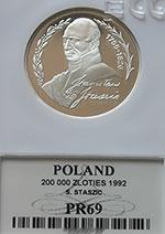 200 000 zł 1992 Stanisław Staszic - grading PR69 - monety