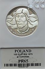 100 zł Mikołaj Kopernik - Grading PR65