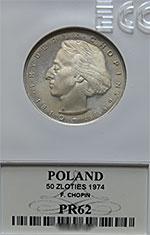 50 zł 1972 Fryderyk Chopin - Grading PR62