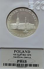 100 zł 1975 Zamek Królewski w Warszawie - Grading PR68